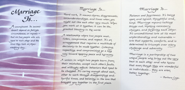 Marriage Is Barbara Cage