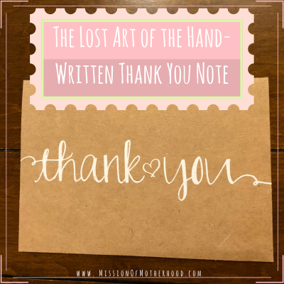 The Lost Art of the Hand Written Thank You Note