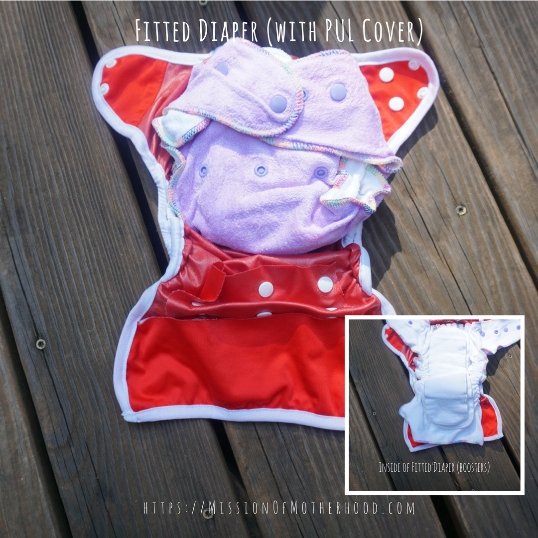 Fitted diaper w cover