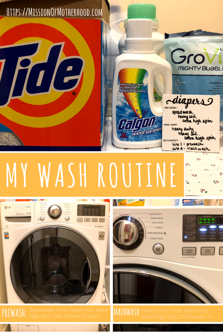 CD Wash routine on LG HE machine