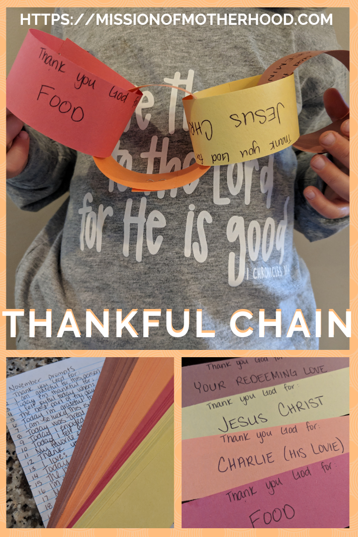 Thankful Chain - guest post Leighanna Lindsey