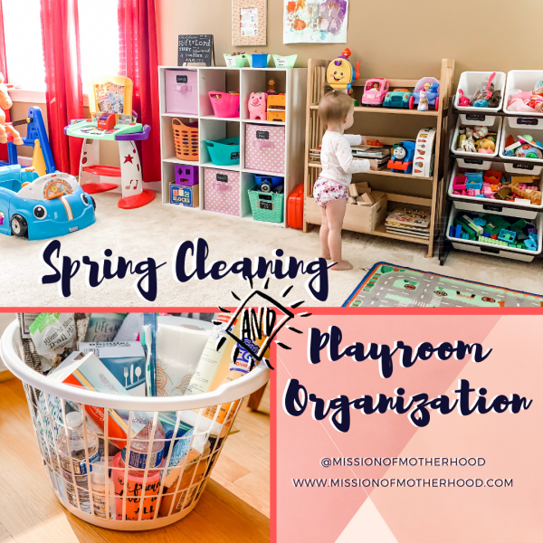 Spring Cleaning and Playroom Organization - missionofmotherhood.com